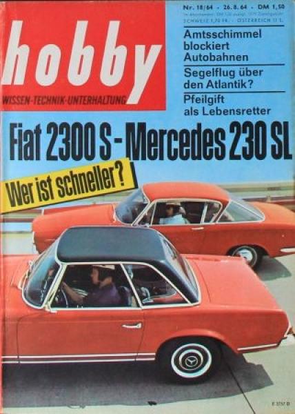 """Hobby - Das Magazin der Technik"" Mercedes-Benz 230 SL 1964 Technik-Magazin"