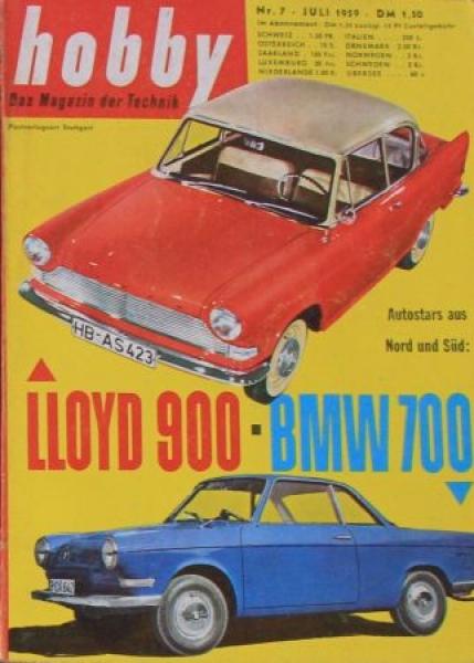 """Hobby - Das Magazin der Technik"" Lloyd 900 Arabella 1959 Technik-Magazin"