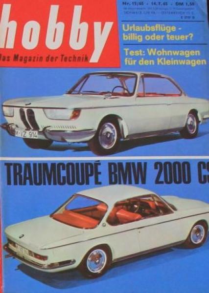 """Hobby - Das Magazin der Technik"" BMW 2000 CS 1965 Technik-Magazin"