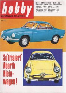 """Hobby - Das Magazin der Technik"" Abarth 1960 Technik-Magazin"