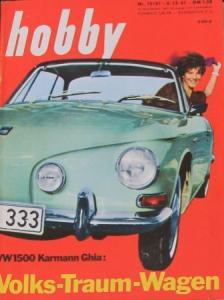 """Hobby - Das Magazin der Technik"" VW 1500 Karmann-Ghia 1961 Technik-Magazin"