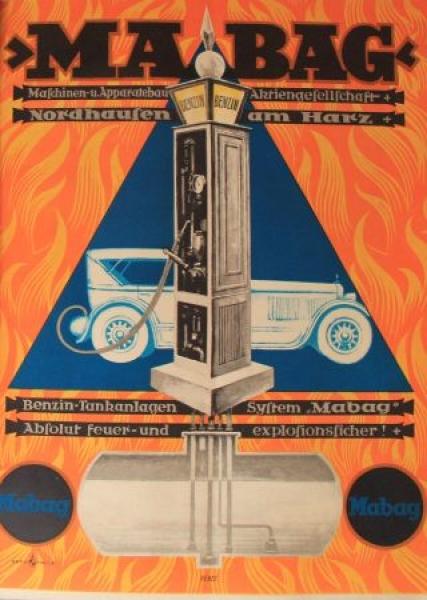 MABAG Benzin-Tankanlagen-System Nordhausen 1926 Tankstellen-Angebotsmappe