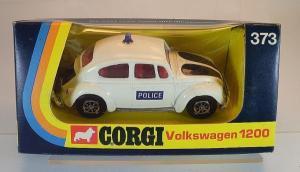 """Corgi Toys Volkswagen Käfer """"Police"""" 1970 Metallmodell in Originalbox"""