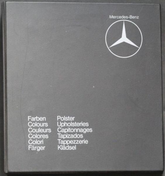 Mercedes-Benz Farben und Polster 1975 Original-Musterordner