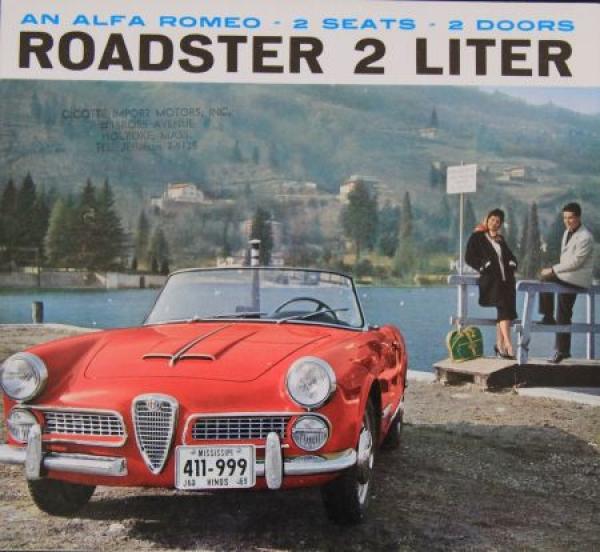 Alfa Romeo Roadster 2 Liter Cabriolet 1959 Automobilprospekt