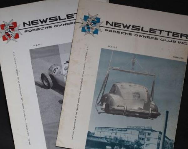 """""""Porsche Newsletter"""" 2 Porsche-Owners-Club Magazine 1960"""