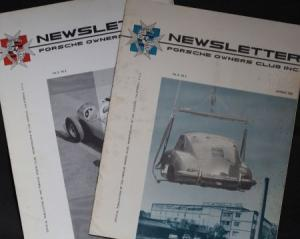 """Porsche Newsletter"" 2 Porsche-Owners-Club Magazine 1960"