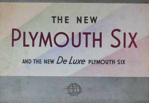 Plymouth Six DeLuxe Modellprogramm 1934 Automobilprospekt
