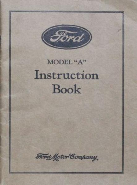 Ford Model A 1929 Betriebsanleitung