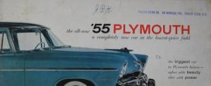 "Plymouth Modellprogramm ""The biggest car in Plymouth history"" 1955 Automobilprospekt"