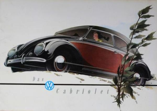Volkswagen Käfer Cabriolet 1952 Reuters-Motive Automobilprospekt 0