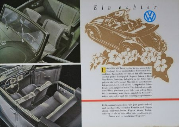 Volkswagen Käfer Cabriolet 1952 Reuters-Motive Automobilprospekt 2