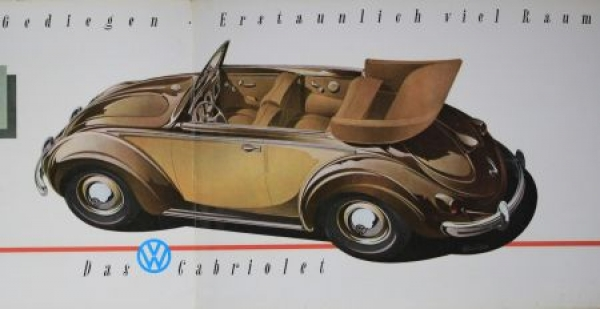 Volkswagen Käfer Cabriolet 1952 Reuters-Motive Automobilprospekt 3