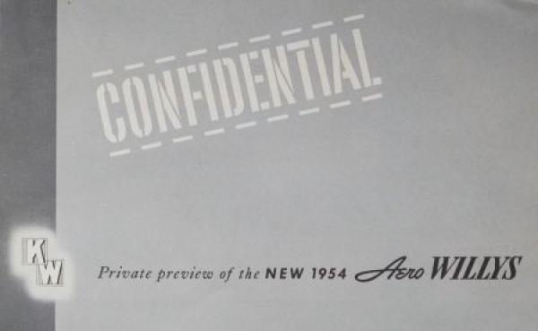 "Willys Aero ""Confidential"" 1954 Automobilprospekt"