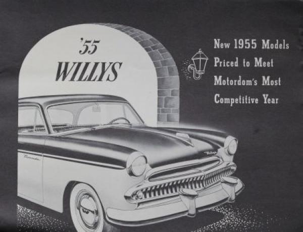Willys Modellprogramm 1955 Automobilprospekt