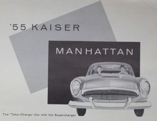 Kaiser Manhattan Supercharge 1955 Automobilprospekt