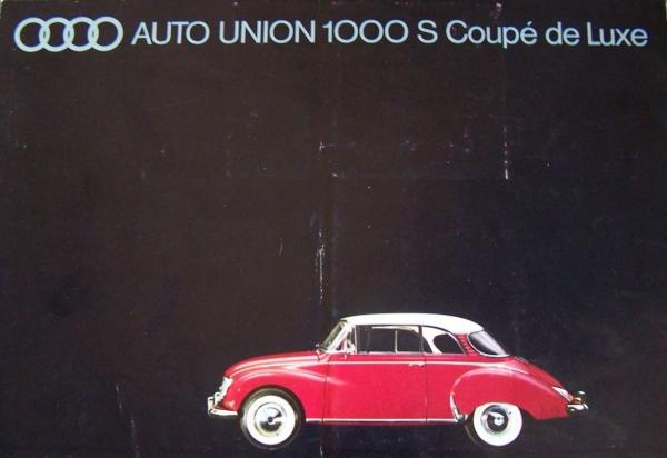Auto-Union 1000 S Coupe de Luxe 1959 Automobilprospekt