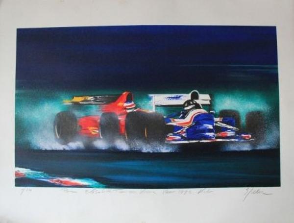 Motor-Rennsport Formel 1 Artwork von Elisabeth Tamms 1995 nummeriert, signiert