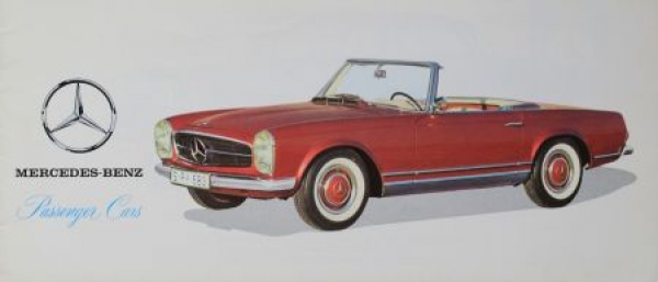 """Mercedes-Benz """"Passenger Cars"""" 1969 Automobilprospekt"""