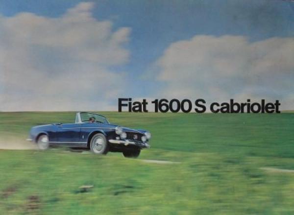 Fiat 1600 S Cabriolet 1962 Automobilprospekt