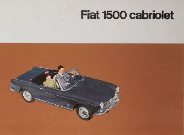 Fiat 1500 Cabriolet 1964 Automobilprospekt