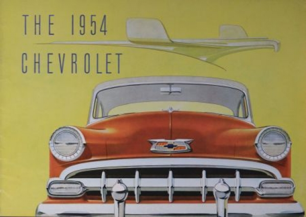 Chevrolet Modellprogramm 1954 Automobilprospekt