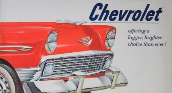 Chevrolet Modellprogramm 1956 Automobilprospekt