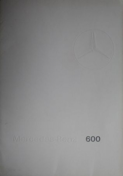 "Mercedes-Benz 600 ""The Grand Mercedes"" 1965 Automobilprospekt Mappe"