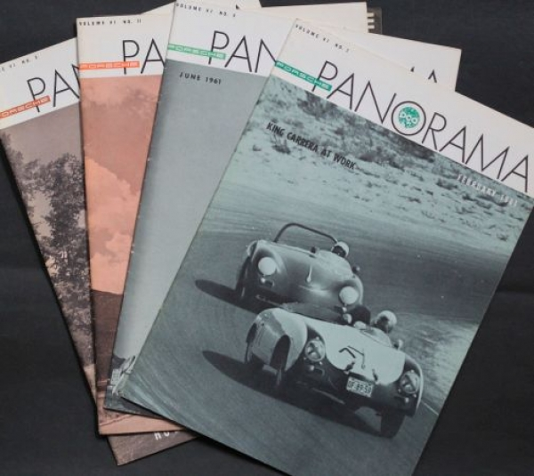 """Porsche Panorama"" Porsche-Firmenmagazin 4 Ausgaben 1961"