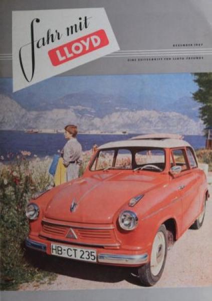 """Fahr mit Lloyd"" Borgward-Magazin 1957"