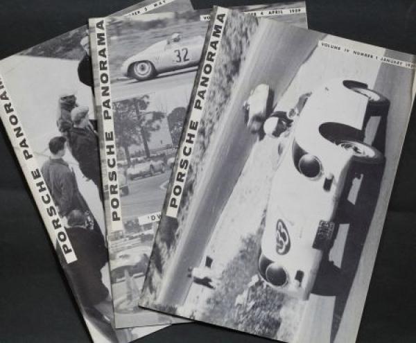 """Porsche Panorama"" Porsche-Firmenmagazin 3 Ausgaben 1959"