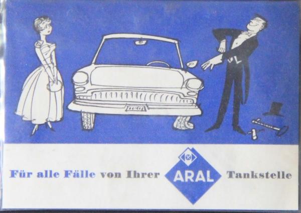 BV Aral Werbeartikel Einmalhandschuh verpackt 1958