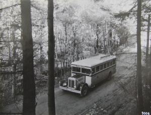 Büssing-NAG Bus Typ FB 4 auf Reisen Originalphoto 1929
