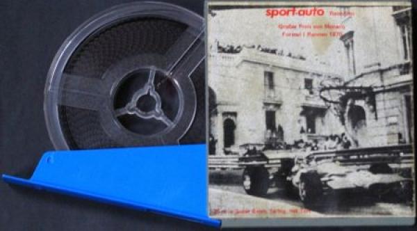 """""""Sport-auto Rennfilm"""" Super-8 Film Großer Preis von Monaco Formel I 1970 farbig"""