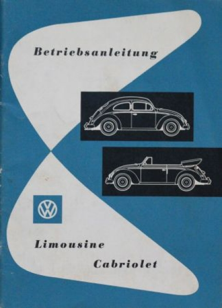 Volkswagen Käfer Betriebsanleitung 1956