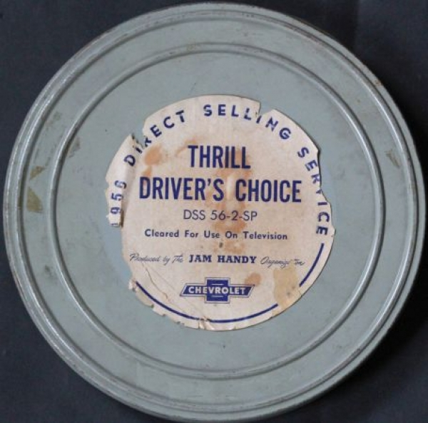Chevrolet Werbe-Filmrolle - Thrill Driver's choice - 1956 in original Filmdose