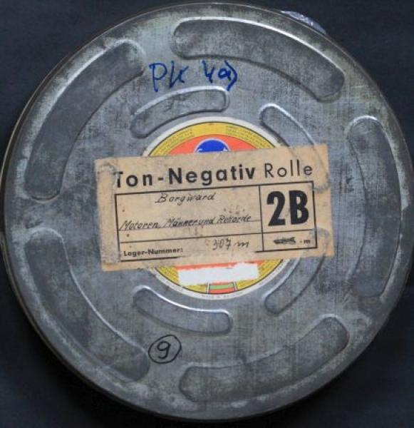 """Borgward Werbe-Filmrolle """"Motoren, Männer und Rekorde"""" 1955 in original Filmdose"""
