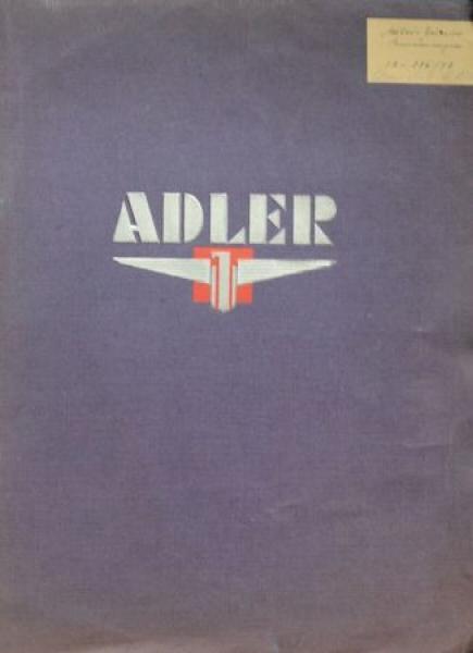 Adler Verkaufsmappe 1939 mit diversen Adler-Unterlagen in Originalmappe