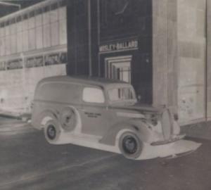 Ford COE Transporter Bus 1939 sechs original Negative Mosley-Ballard