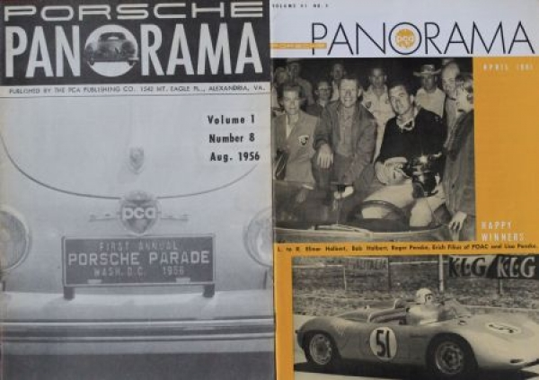 """Porsche Panorama"" Porsche-Firmenmagazin 2 Ausgaben 1956/61"