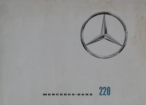 Mercedes-Benz 220 Modellprogramm 1963 Automobilprospekt