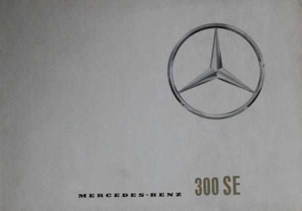 Mercedes-Benz 300 SE 1964 Automobilprospekt