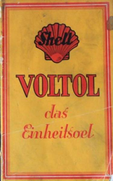 """Shell """"Voltol das Einheitsoel"""" 1927 Matejko Tankstellen-Prospekt"""