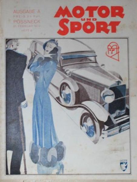 """Motor & Sport"" Zeitschrift 1928"