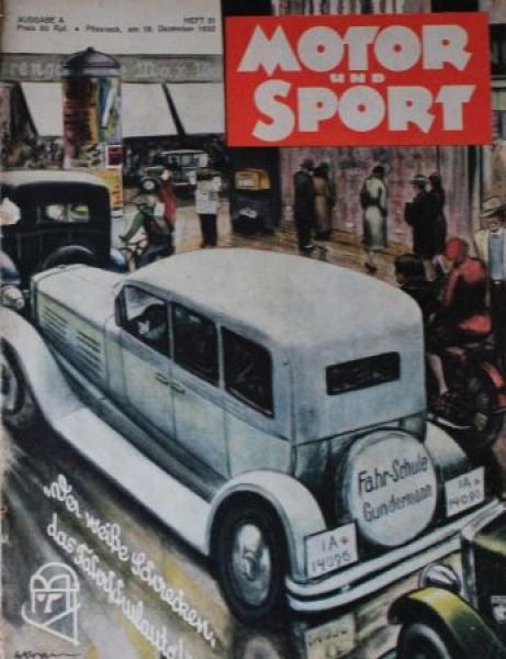 """Motor & Sport"" Zeitschrift 1932"