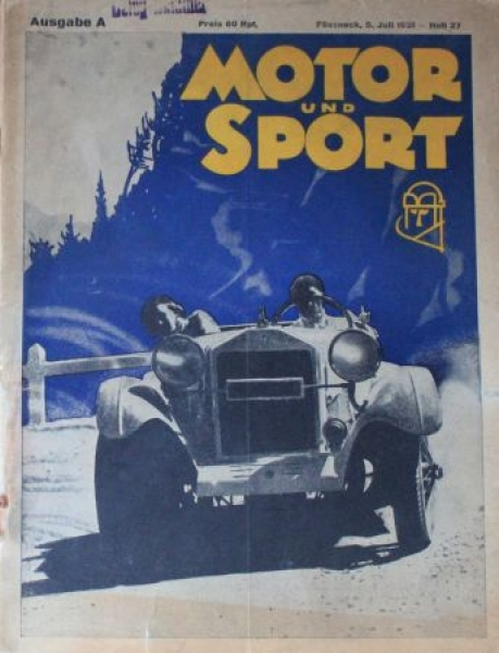 """Motor & Sport"" Zeitschrift 1931"