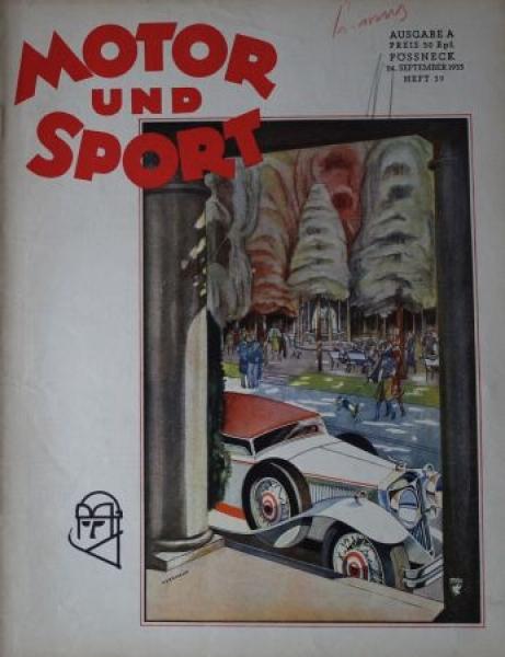 """Motor & Sport"" Zeitschrift 1933"