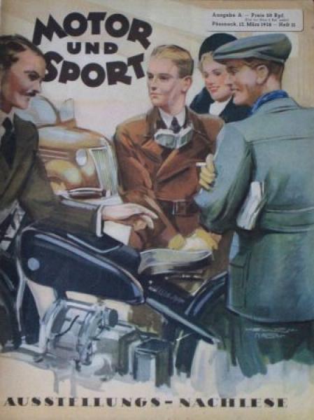 """Motor & Sport"" Zeitschrift 1938"