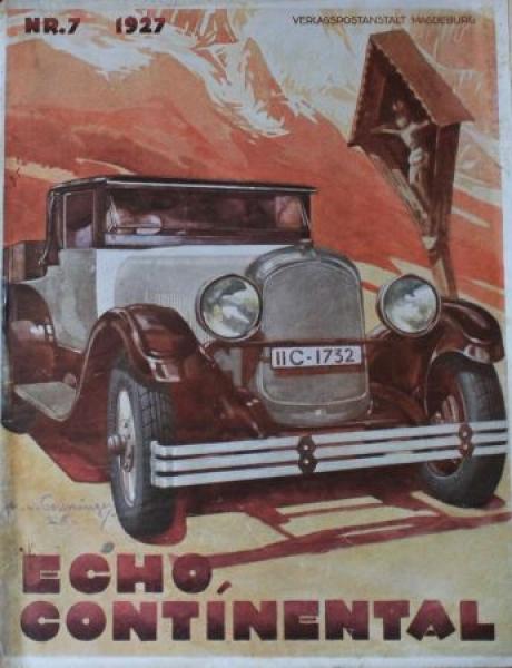 """""""Echo Continental"""" Firmenzeitschrift 1927"""