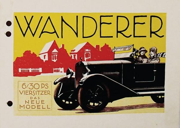 Wanderer 6/30 PS Viersitzer 1925 Automobilprospekt